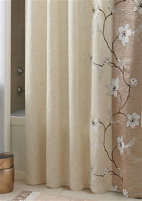 magnolia shower curtain croscill magnolia shower curtain and hooks belk