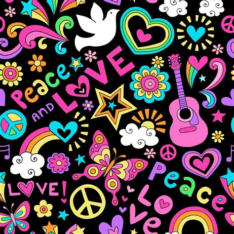 imagenes de simbolos hippies peace and love vinilo pixerstick peace and love seamless pattern vector