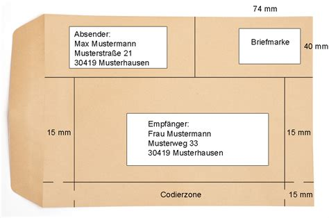 Beschriftung C4 Umschlag by Beschriftung C5 C4 Din A4 Briefumschlag