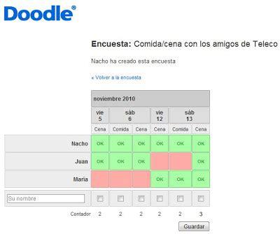 doodle encuestas orientatelecos octubre 2010