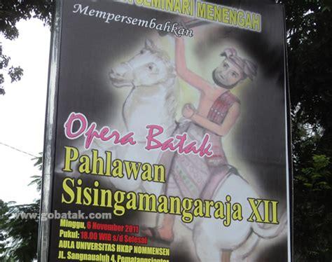 Kaos Batak Sisingamangaraja Xii Color live broadcast opera batak tentang pahlawan raja