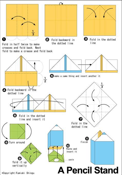 How To Make A Paper Pencil - origami pencil box