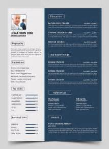 photoshop graphic design templates 15 free modern cv resume templates psd