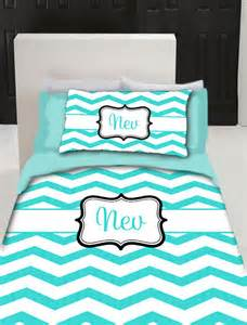 items similar to chevron monogram duvet cover and shams personalized available sizes twin f