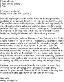 career change covering letter sle