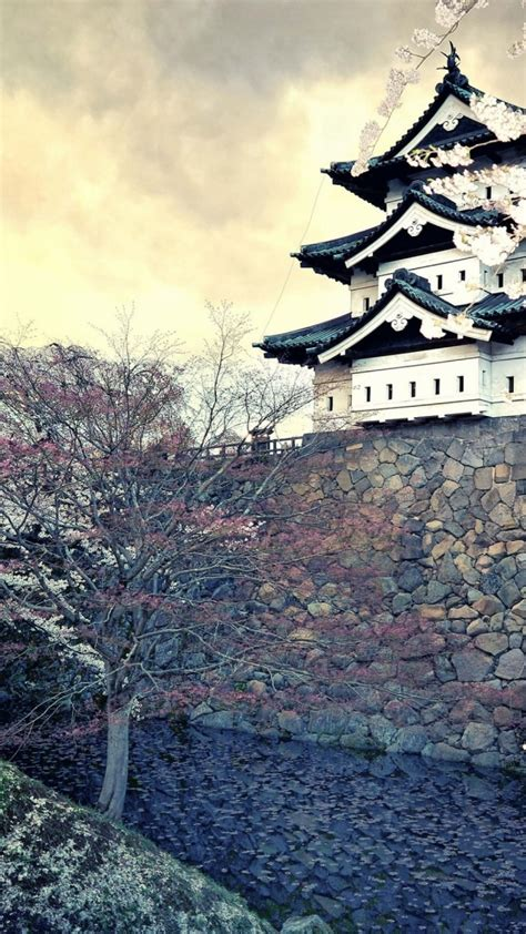 wallpaper iphone hd japan 720x1280 hirosaki castle japan htc one x wallpaper