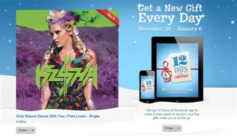 Itunes Christmas Giveaway - itunes 12 days of christmas giveaway 2 ke ha songs free canadian freebies coupons