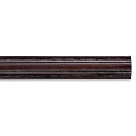 fluted curtain rod buy cambria 174 premier weathered wood 48 inch fluted curtain