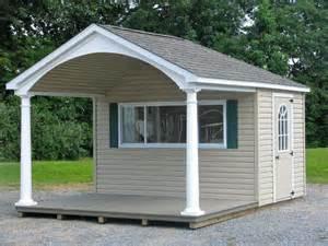 Backyard Overhang Custom Pool Houses Amish Mike Amish Sheds Amish Barns