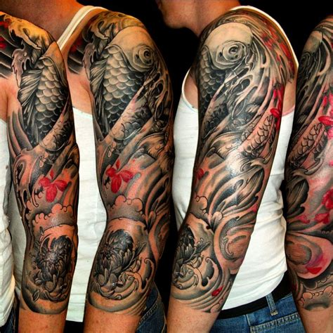 koi fish sleeve tattoo designs for men 1000 images about idee on japanese koi