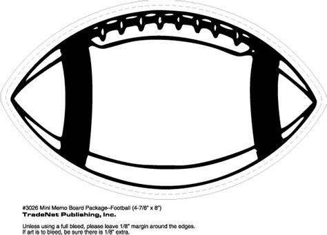 Football Template Printable by Printable Football Pictures Clipart Best