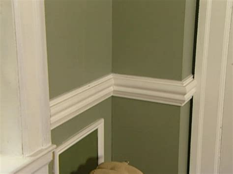 How To Install Chair Rail Molding With Wainscoting how to install a chair rail how tos diy