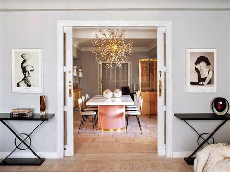 modern glam interior design mid century glamour living vintage femme in madrid erika brechtel