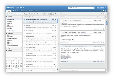 Zimbra Email Search Vmware S Path To Cloud Messaging Collaboration Introducing Zimbra 8 Zimbra
