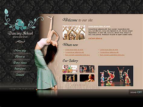 templates for dance website dancing school flash template best website templates