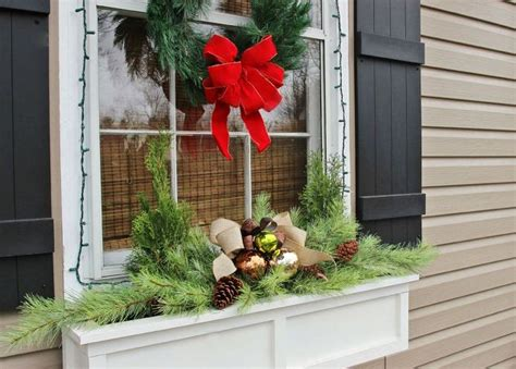 youtube how to decorate a christmas window box easiest window box idea hometalk