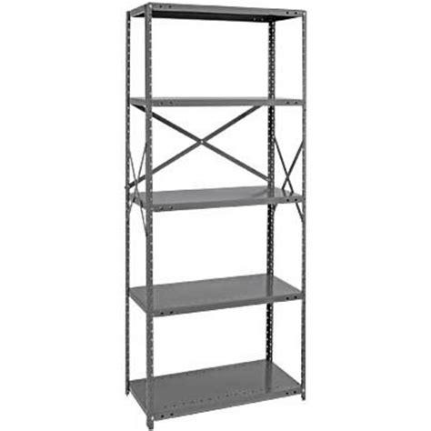 quantum heavy duty 18 industrial steel shelving 6 shelves 36in w x 18in d x 75in h