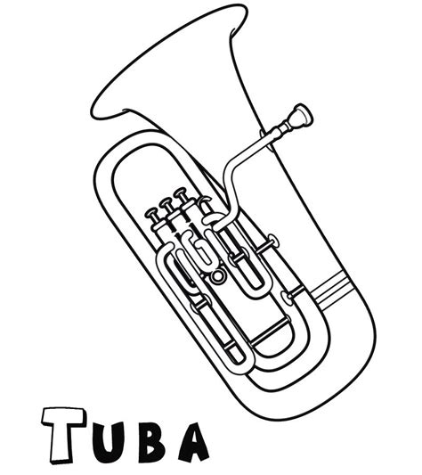 easy tuba coloring pages