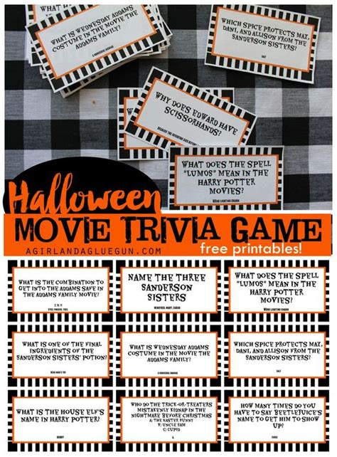 love film quiz halloween trivia game with free printables kids version