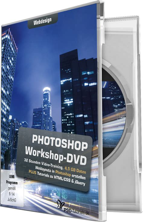 Tutorial Photoshop Volume 1 1 photoshop workshop dvd webdesign psd tutorials de shop