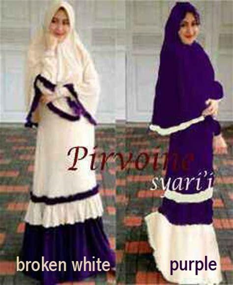 Set Syari Sederhana baju gamis syari set pirvoine y207 busana muslim terbaru