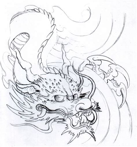 dragon pencil sketch by vikingtattoo on deviantart