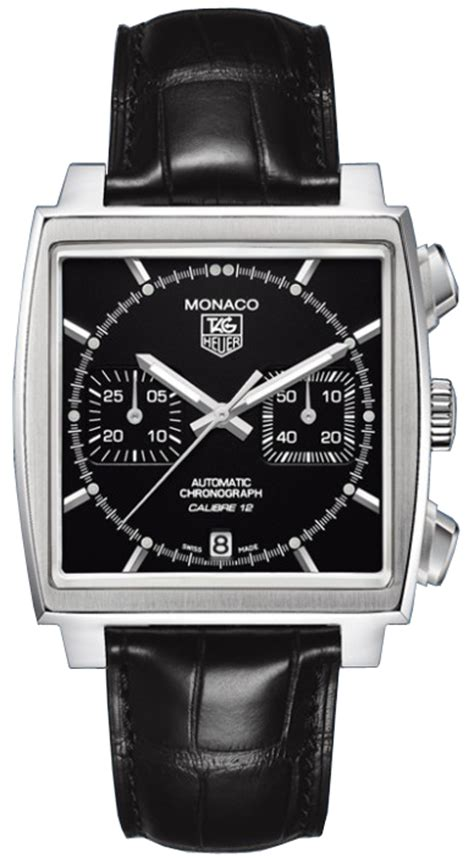 Tagheuer Formula1 Monaco Silver Black Leather caw2110 fc6177 tag heuer monaco mens watches