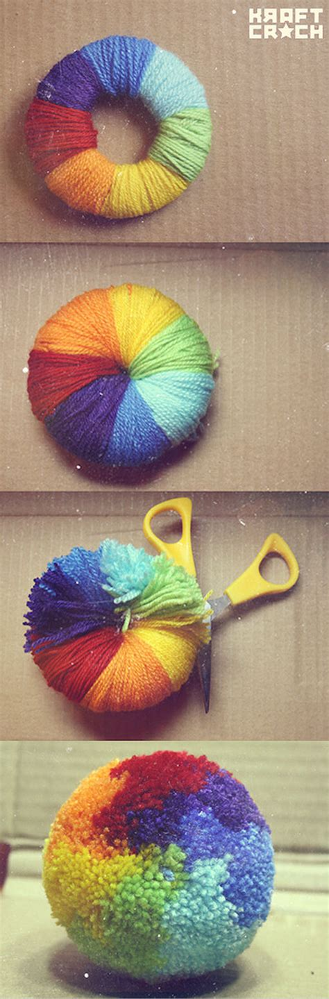 Rainbow Pompom diy rainbow pom poms pictures photos and images for and