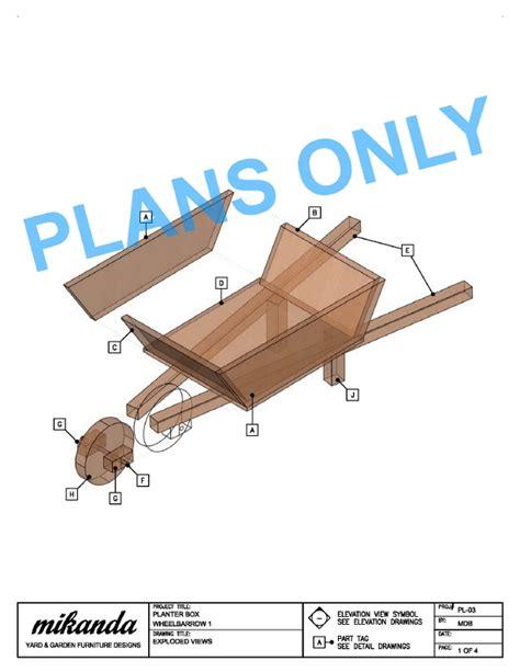 Wooden Wheelbarrow Planter Plans woodworking plans wooden wheelbarrow planter plans pdf plans