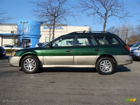 outback subaru green 2002 timberline green subaru outback wagon 59375966 photo
