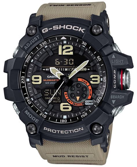 G Shock Gwg 1000 Black White Box g shock s analog digital mudmaster sensor khaki