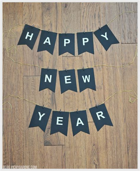 new year banner craft diy new years banner a craft in your daya