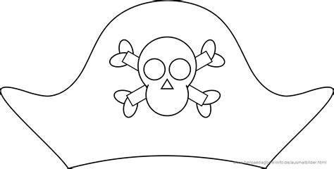 pirate template free coloring pages of templates of pirate hats