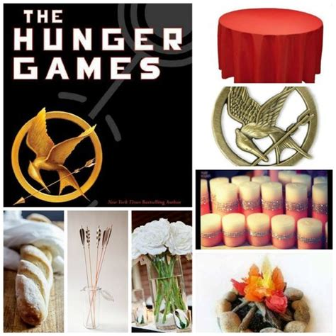 themes in hunger games novel book themed party table 2 the hunger games red