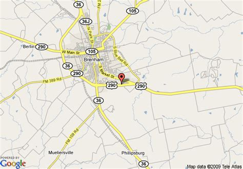 map of brenham texas map of best western inn of brenham brenham