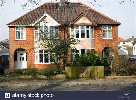 buying a 1930s house 1930s semi detached suburban houses ipswich suffolk stock photo royalty free image