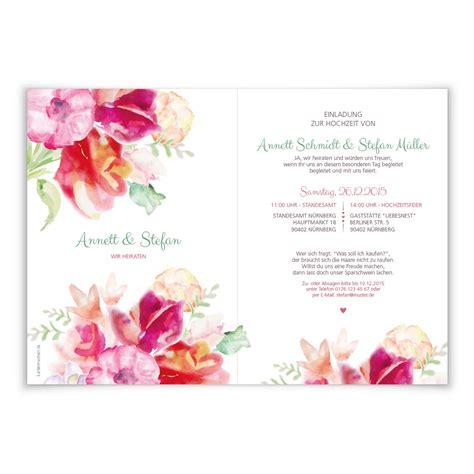 Hochzeitseinladung Aquarell by Standesamt Einladung Ourpath Co