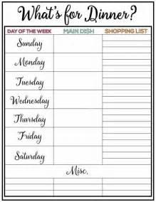 Weekly Menu Printable Weekly Menu Plan Week 21 Somewhat Simple