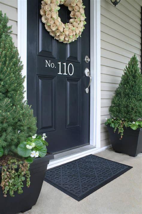 honana wx  black solid pattern home door mat rubber mat