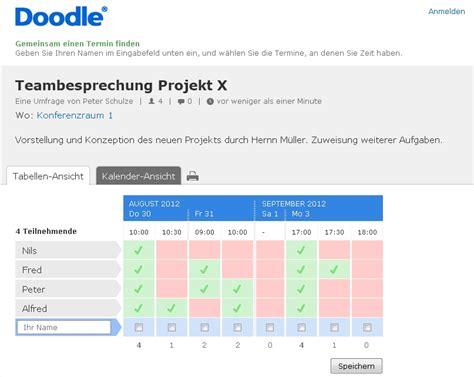 doodle termin umfrage starten termine koordinieren mit doodle