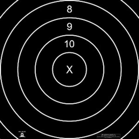 500 Yard Target Size by Official Nra High Power Rifle Targets Gun Fullbore