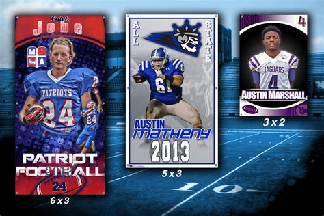 Football Archives Custom Sports Posters Personalized Team Collages Senior Banners And Team Senior Sports Banners Templates