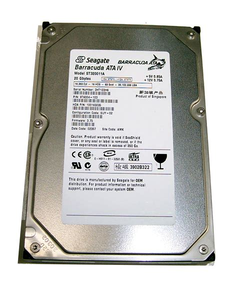 Hardisk Seagate 20gb seagate st320011a 20gb 7200rpm 2mb ide 3 5 quot barracuda ata iv disk drive ebay