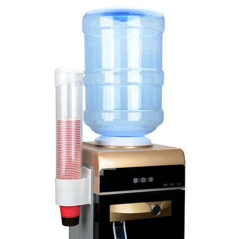 Water Dispenser With Cup Holder disposable water cup dispenser paper cup dustproof plastic holder self adhesive mount 50 cups