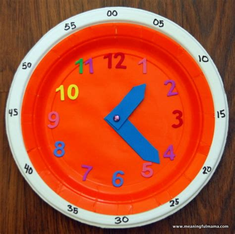 Make Paper Clock - diy clock for teaching time the two to tell and