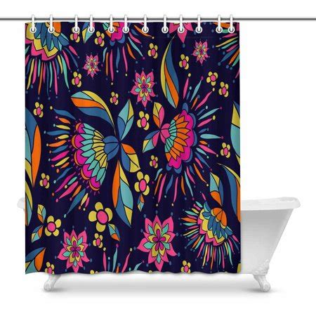 bright colored shower curtains mkhert bright colored bathroom shower curtain 60x72 inch