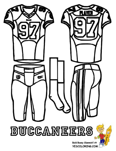 nfl uniform coloring pages big play nfc football uniform coloring page free nfl