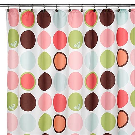 roxy shower curtain go see dots 72 quot x 72 quot fabric shower curtain bed bath
