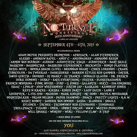 Nocturnal Wonderland Ticket Giveaway - nocturnal wonderland 2015 san bernadino ca tickets