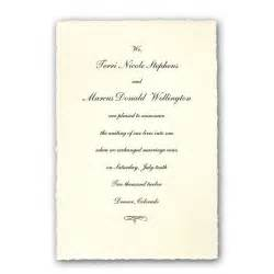 colonial white medium deckled wedding announcements